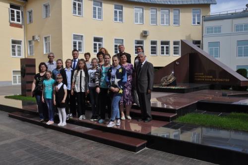 Москва Официальное мероприятие  Посещение детьми Зала боевой славы военной контрразведки ФСБ России.
