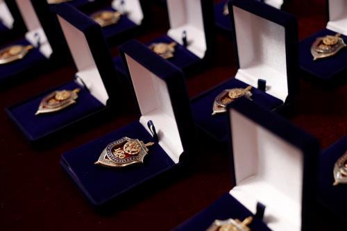 Москва Официальное мероприятие  Медаль павшего при защите города солдата передана в Зал боевой славы военной контрразведки