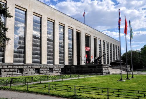 Москва Официальное мероприятие  В Центральном музее ВС РФ показали самые секретные экспонаты российской контрразведки