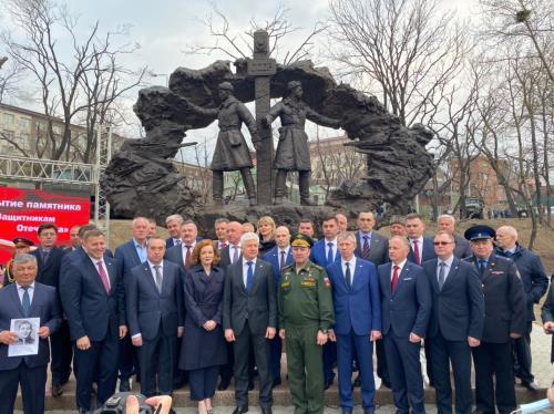 Торжественное открытие памятника «ЗАЩИТНИКАМ ОТЕЧЕСТВА»